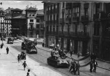 """Entrada de las tropas rebeldes en Bilbao y su """"recibimiento"""""""