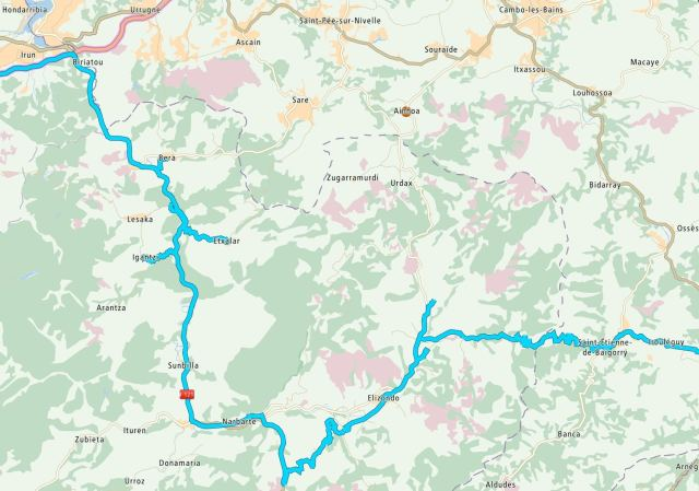 Our route through northern Navarre