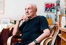 Frank Gehry en su oficina de Los Angeles. FOTO: MARK LEIBOWITZ