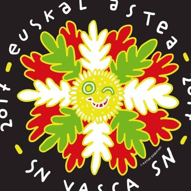 Aurton San Nikolasen ospatzen den Argentinako Euskal Nazional Astearen Logoa.