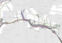 Este es el mapa actual de cables submarinos existente el el Mediterráneo. En 2020 el nuevo cable que unirá Israel y el País Vasco cambiara de una forma sbstancial este mapa. El sólo tendrá más capacidad que la suma de todo el resto de conexiones en el Mediterráneo