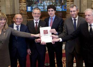 Firma de la Declaración Institucional en el centenario de Eusko Ikaskuntza