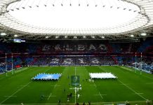 Bilbao's San Mamés Stadium ahead of the European Rugby Champions Cup final.