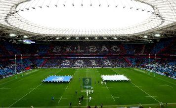 Bilbao's San Mamés Stadium ahead of the European Rugby Champions Cup final.