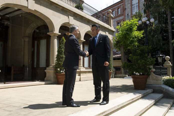 El Lehendakari recibe al Gobernador de Nevada en Ajuria Enea