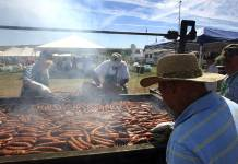 In this Aug. 15, 2015, file photo, dozens of Basque chefs tend the fire pits at the Inaugural Basque Fry at Corley Ranch in Gardnerville.