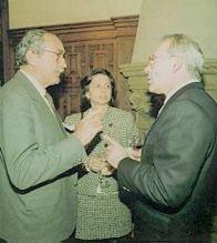 Paco Igartua y el Lehendakari Ardanza. Congreso Mundial de Colectividades Vascas: (1995)