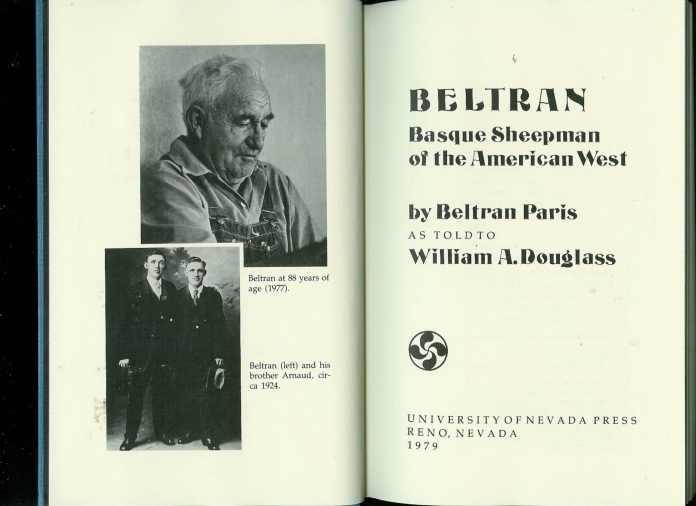 Beltran: Basque Sheepman of the American West Hardcover – Jan 1 1981 by Beltran Paris and William A. Douglass