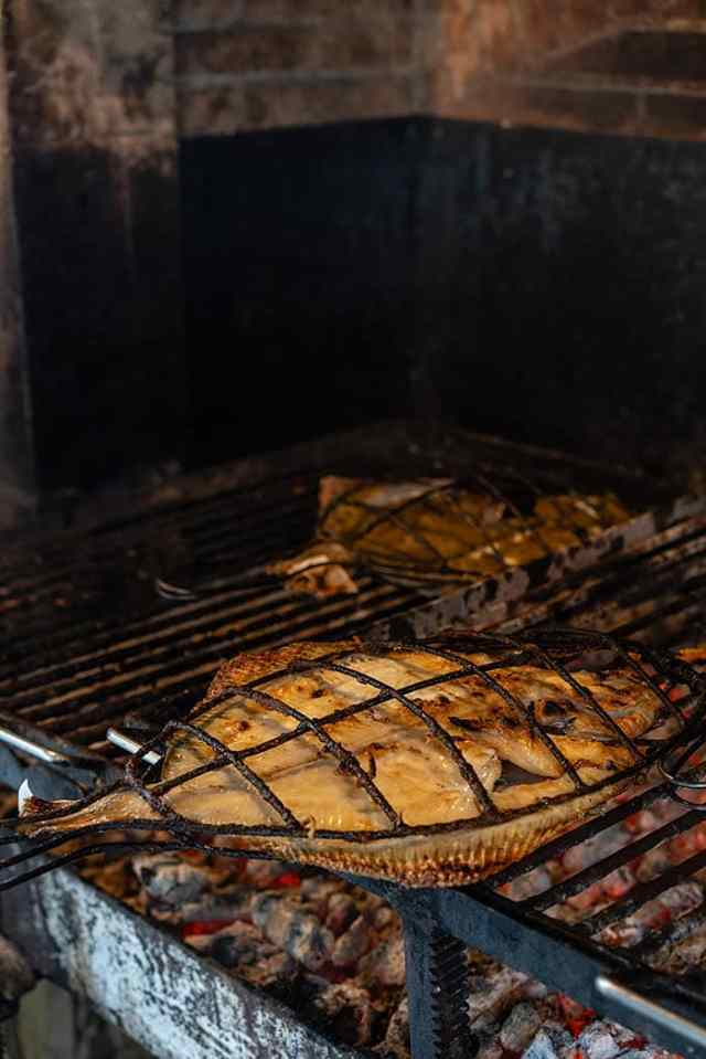 Elkano's grilled turbot. 'I always want the turbot to be the last fish caught in the net,' says proprietor Aitor Arregui © Markel Redondo
