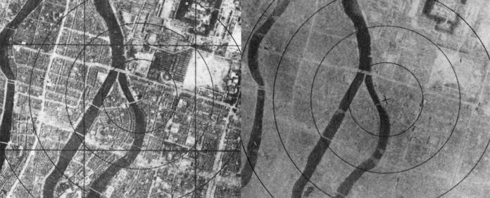 Hiroshima, before and after the atom bomb (ibiblio.org/Public domain)
