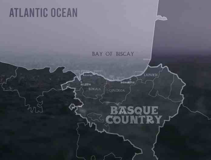 Costa vasca. Mapa de los reportajes de surf en el País Vasco de Red Bull