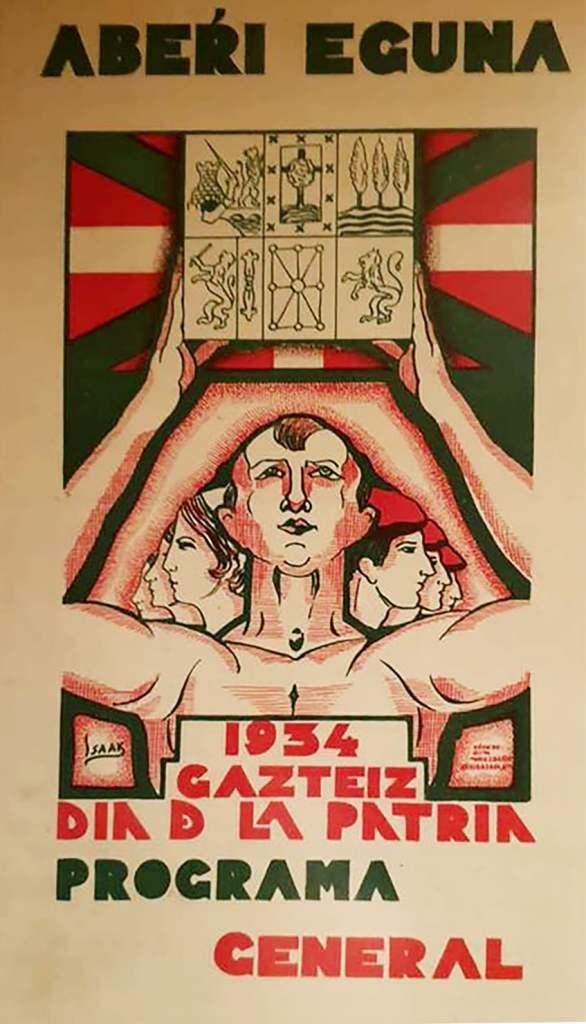 Aberri Eguna 1934 -Gasteiz - Portada del Programa General (Isaak Díez)