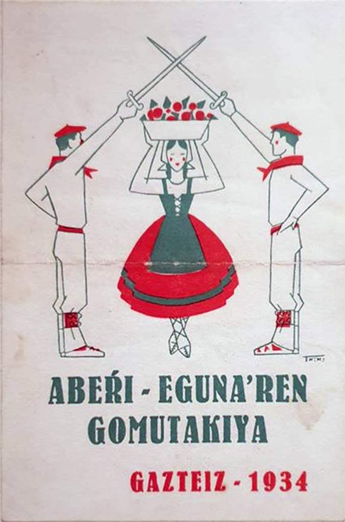 Aberri Eguna 1934 -Gasteiz - Hoja de propaganda (Txiki)