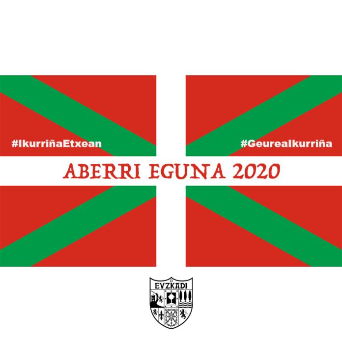 Ikurriña aberri Eguna 2020. Para usar en los muros
