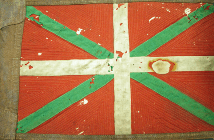 Ensign used on the official vehicle of Lehendakari José Antonio de Aguirre y Lekube.