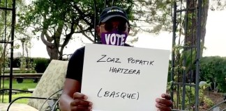 Samuel L Jackson usa el euskera para promover la participación en las elecciones USA