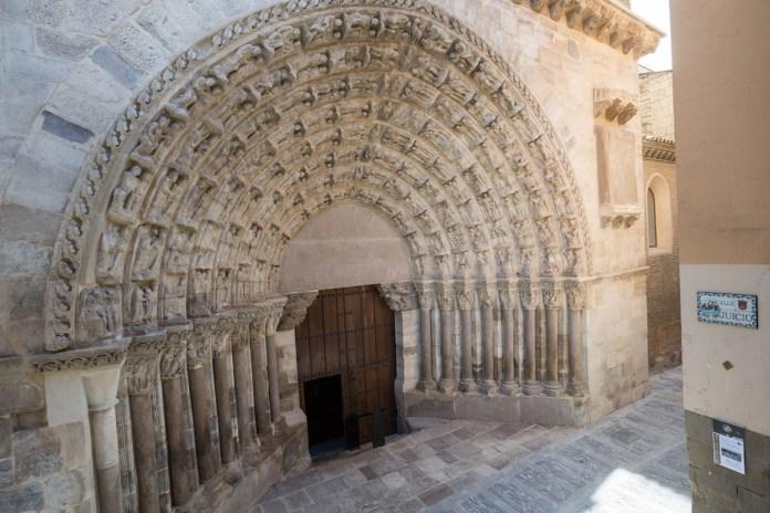 Puerta del Juicio Catedral de Tudela en su situación actual
