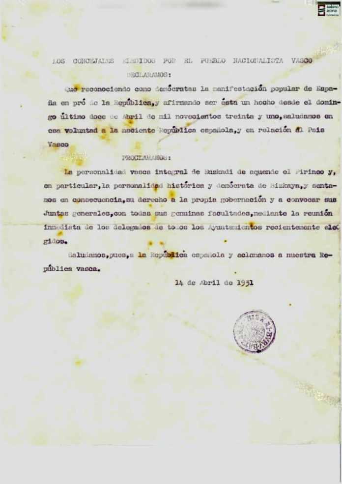 Carta concejales PNV Bizkaia 14 de abril