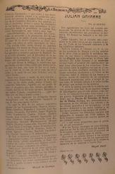 Diario La Baskonia de Buenos Aires de 28 de febrero de 1919 segunda página de la crónica sobre la plantación del retoño del Arbol de Gernika en Montevideo