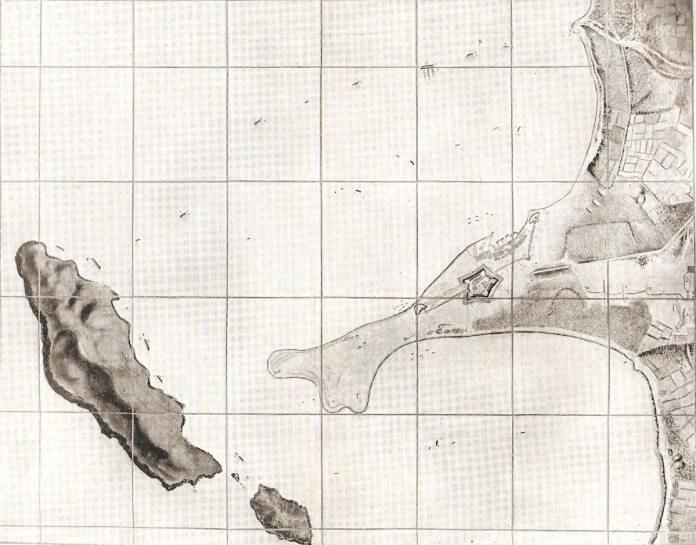 Con la caída de la fortaleza de Callao, el último bastión realista, en enero de 1826 finaliza la guerra de independencia de Perú (plano de su sitio por tierra y mar)