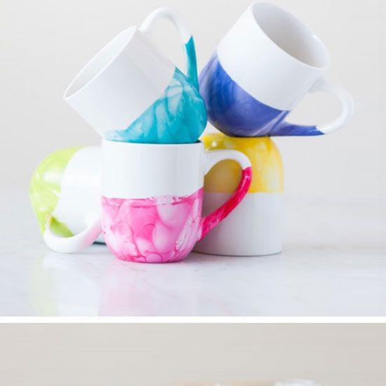 DIY: Marble Mugs