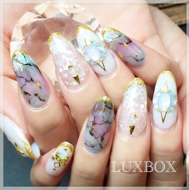Marble Nail-art