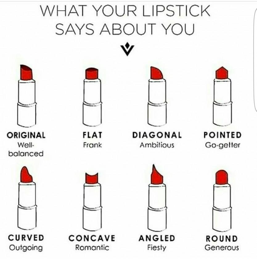 Vorm Lipstick Persoonlijkheid