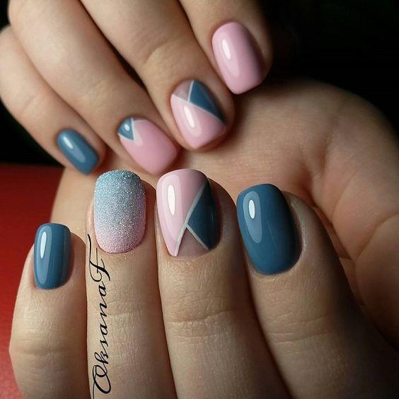Geometrische nail-art
