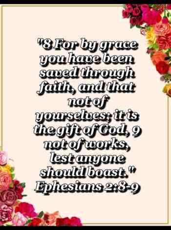 bible varses wallpaper faith (Ephesians 2:8-9)