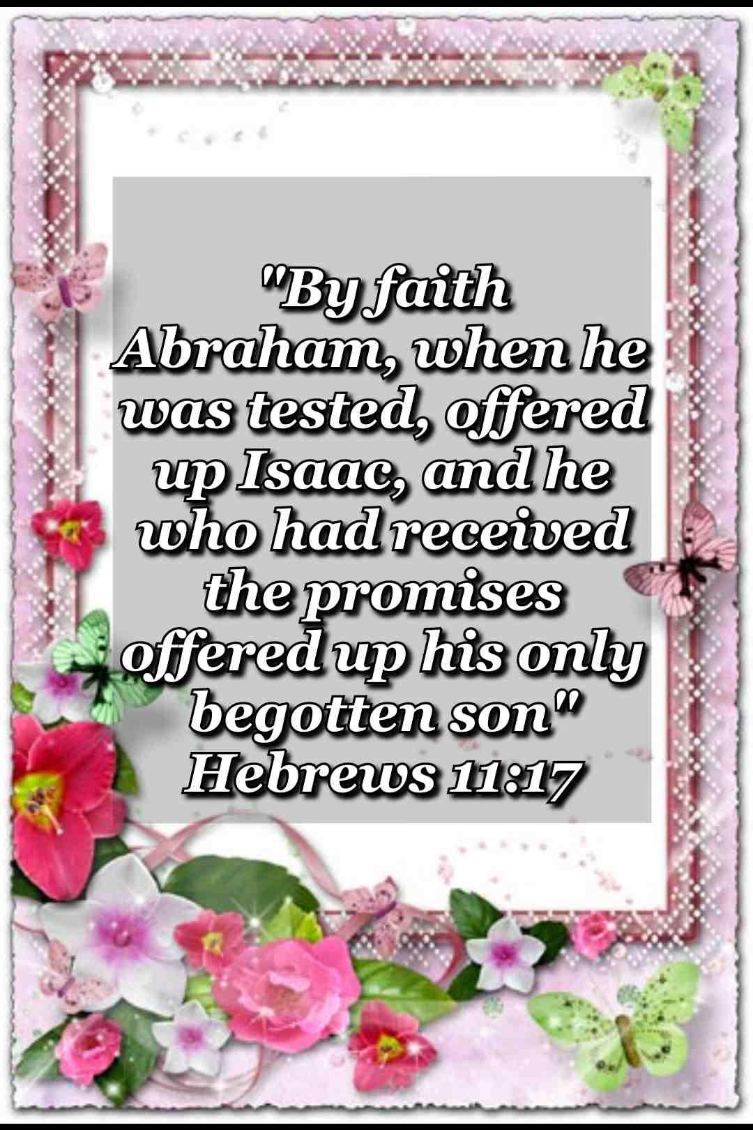 bible verse wallpaper (Hebrews 11:17)