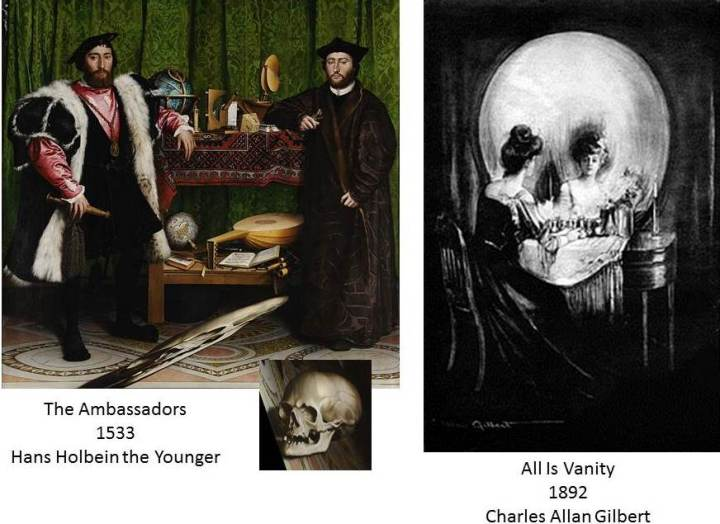 skulls in art Holbein Gilbert
