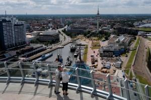 Die Aussicht vom Atlantic Hotel Sail City kann sich sehen lassen © Tourismus Bremerhaven