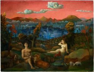 Carlo Mense, Rückkehr ins Paradies, 1946, Öl auf Le inwand, LVR-LandesMuseum Bonn, © Foto Jürgen Vogel