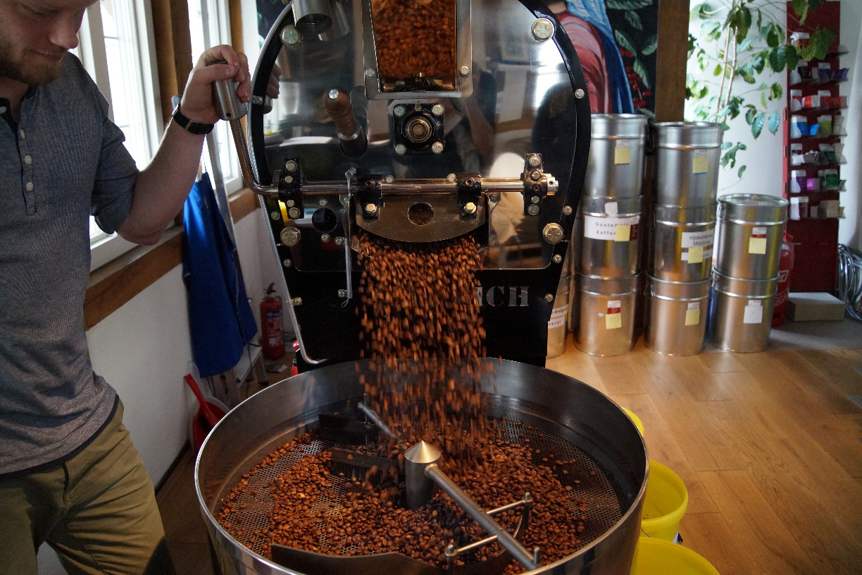 Kaffeeröstung live © Maike