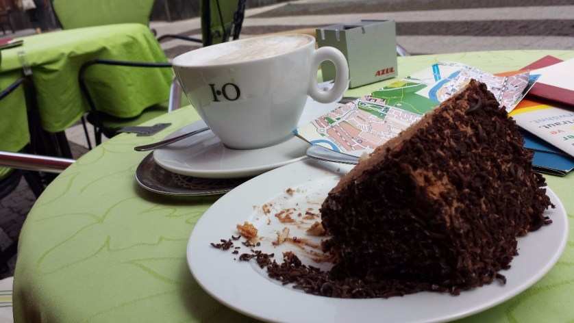"""Die """"Bismarcktorte"""" im Café Erasmi hat nicht lange überlebt (c) Brigitte"""