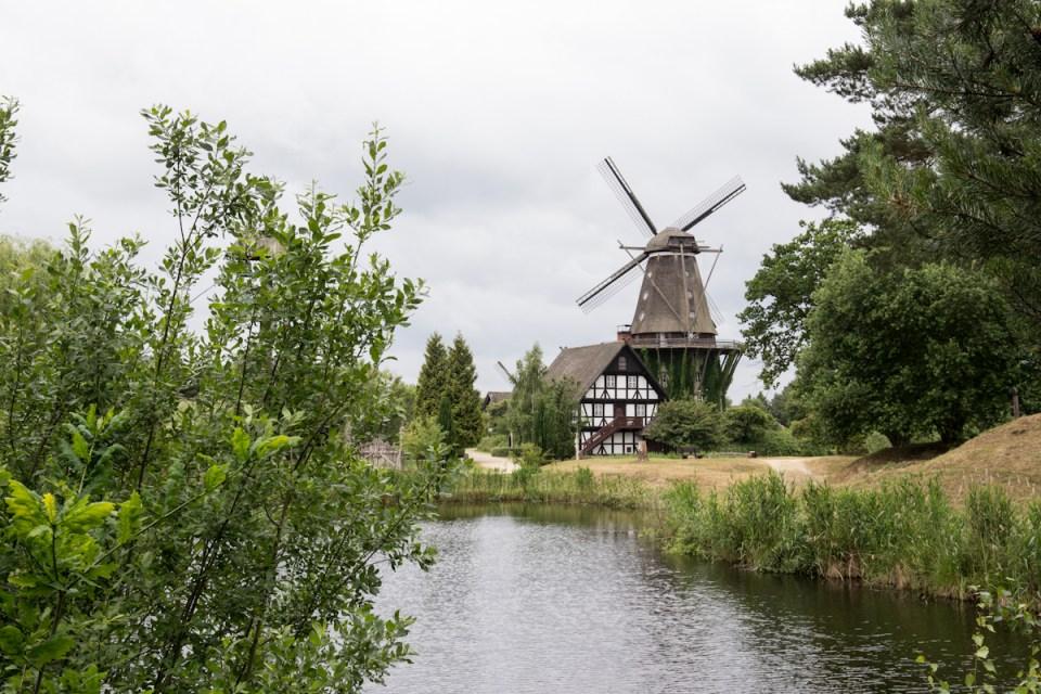 Blick auf das Gifhorner Mühlenmuseum