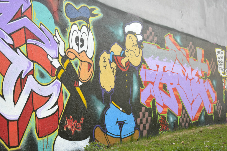 Graffitikunst am Westbahnhof. Foto: Braunschweig Stadtmarketing GmbH