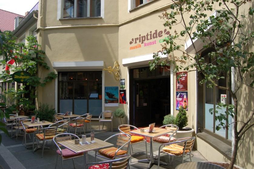 Café Riptide im Handelsweg von außen.