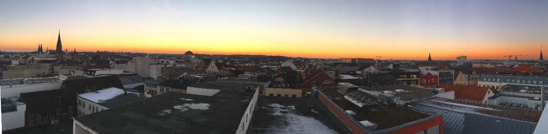 Panorama von der Oldenburger Innenstadt vom Parkdeck des Parkhauses an der Staulinie