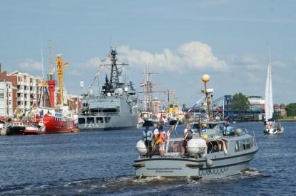 Auch die Marine präsentiert ihre Schiffseinheiten © Barbara