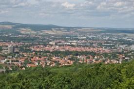 Blick auf die Göttinger Altstadt von der oberen Turmplattform des Bismarckturms (c) Michaela
