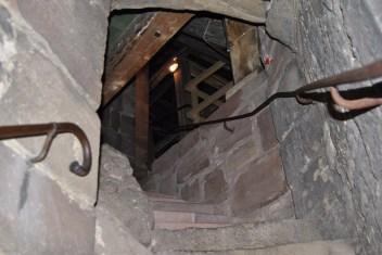 Eine Wendeltreppe führt bis zum Dachstuhl der Jacobikirche (c) Michaela