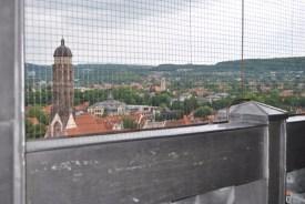 Blick von der Aussichtsgalerie auf dem Nordturm der Johanniskirche zur Jacobikirche (c) Michaela