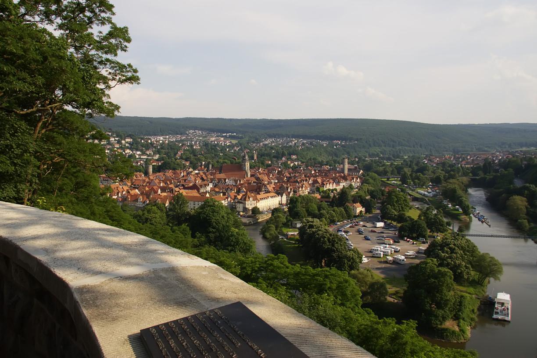 Blick auf die Altstadt von der Weserliedanlage (c) Hann. Münden Marketing GmbH, Foto: Burkhardt
