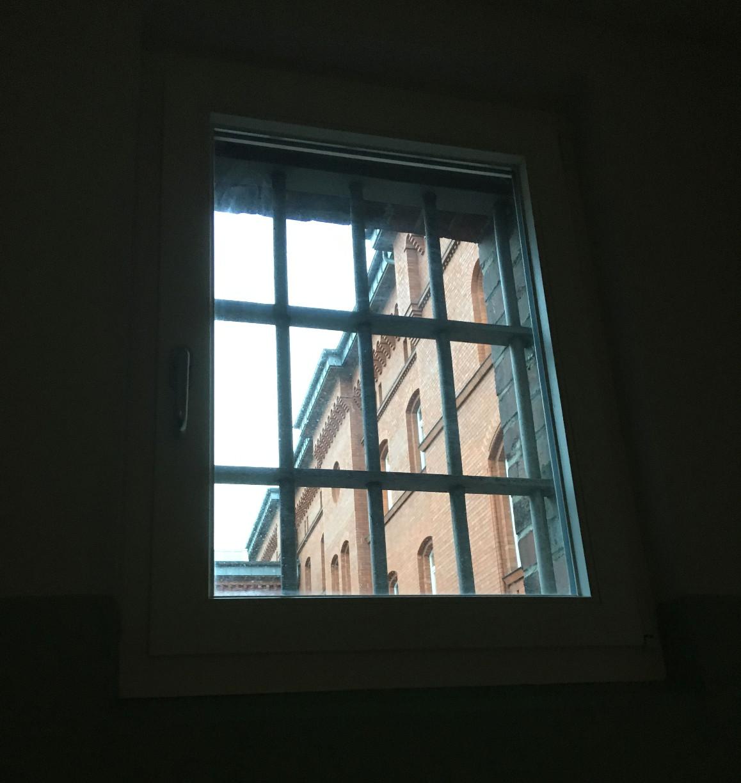 Blick aus Zellenfenster