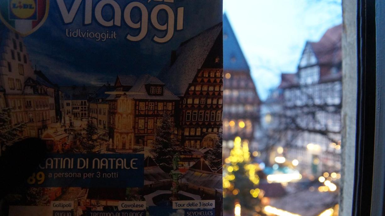 """Der Hildesheimer Weihnachtsmarkt auf dem Cover des Lidl Prospekts """"Viaggi"""""""