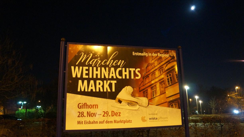 Hinweis auf den Gifhorner Märchen-Weihnachtsmarkt.