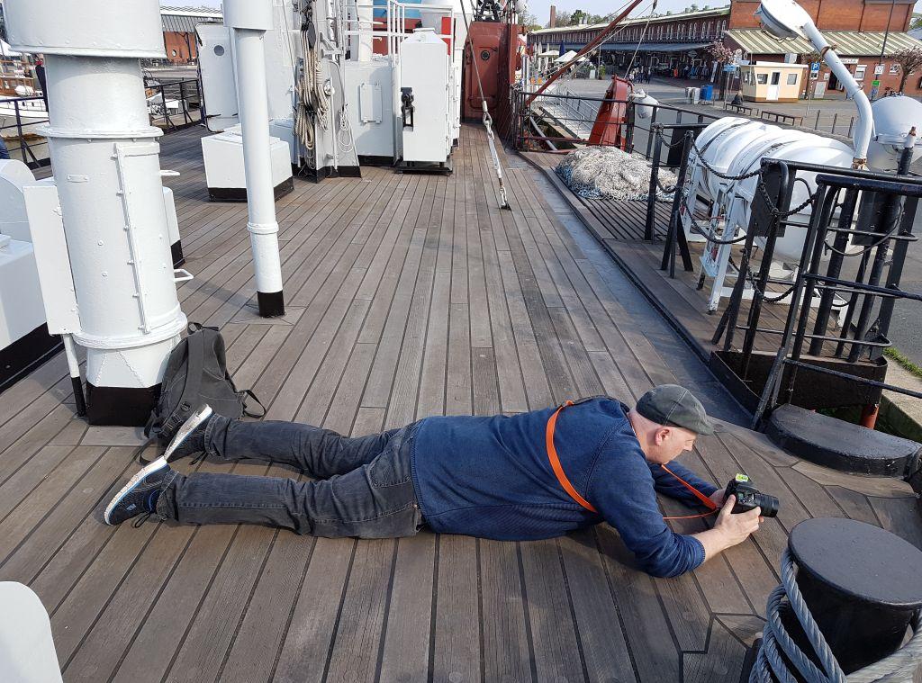 Thomas ist nicht am Boden zerstört, sondern auf der Suche nach der bestmöglichen Perspektive (c) Tanja Albert