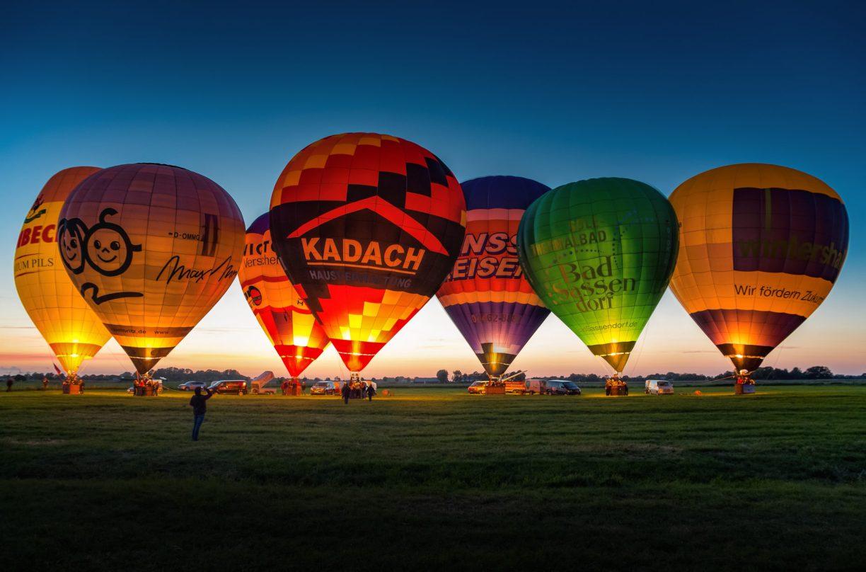 Die schönsten Aussichtspunkte in Niedersachsen: Mit dem Heißluftballon über Wilhelmshaven