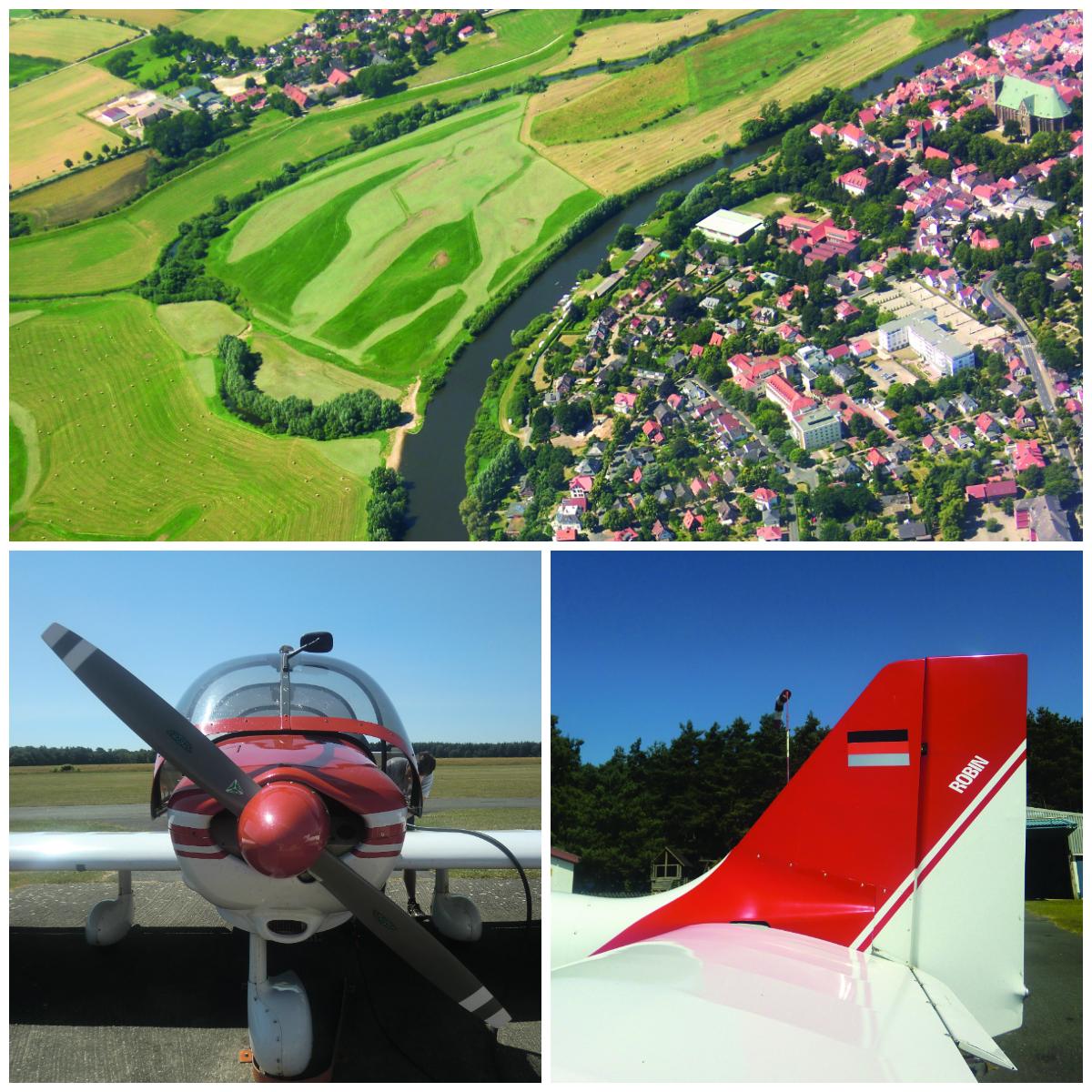 Die schönsten Aussichtspunkte in Niedersachsen: Mit dem Motorflugzeug über Verden